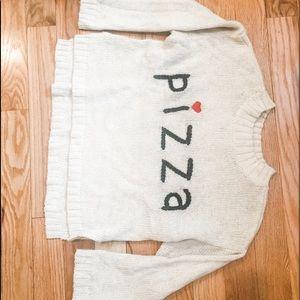 "Wild fox ""PIZZA"" Sweater size Medium"
